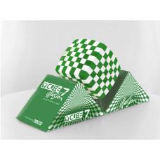 V-Cube 7x7 Illusion versenykocka, lekerekített, zöld-fehér