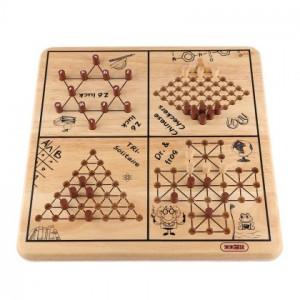 5-in-1 fa családi társasjáték Érdekes interakciós játék