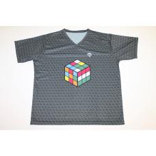 Rubikos póló szürke   Rubik kocka