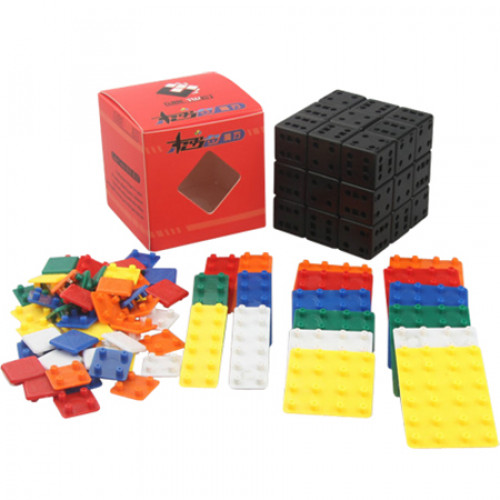 CubeTwist Bandaged 3x3x3 Magic Cube Simplified DIY Kit Black