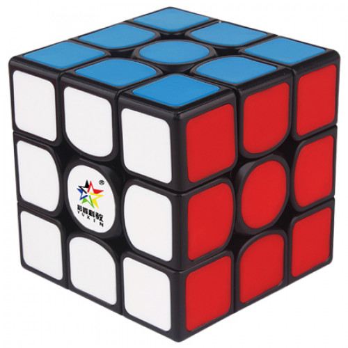 YuXin Kylin V2 M 3x3x3 Magnetic Speed Cube Black Deep Red Version