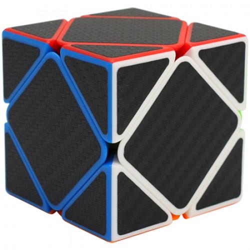 Carbon Fibre Stickered Skewb Magic Cube