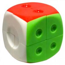 Dice 2x2x2 Stickerless Magic Cube