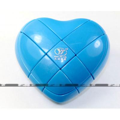 YongJun special 3x3x3 cube - Love Heart Blue   Rubik kocka