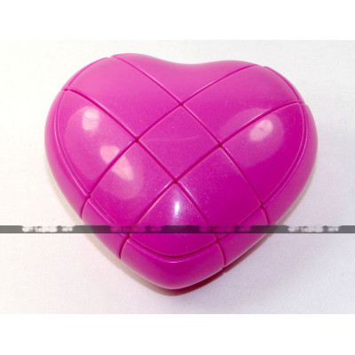 YongJun special 3x3x3 cube - Love Heart Pink   Rubik kocka