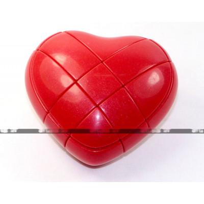 YongJun special 3x3x3 cube - Love Heart Red   Rubik kocka