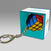 Reklámajándék Rubik kocka kulcstartó
