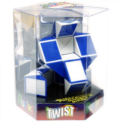 Rubik Twist (kígyó) kék-fehér | Rubik kocka