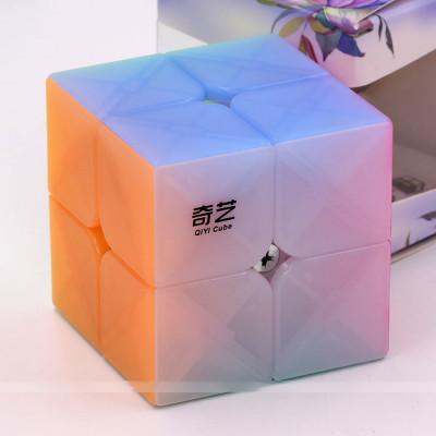 QiYi cube transparent Jelly colour series of 2x2 | Rubik kocka