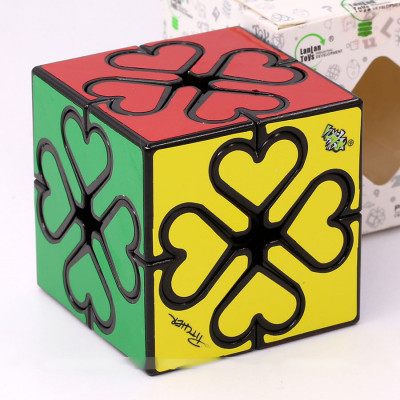 LanLan Gear heart cube Lucky clover   Rubik kocka