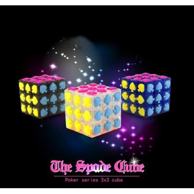 YongJun tiles 3x3x3 - Spade   Rubik kocka