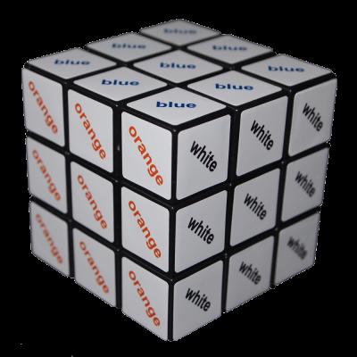 Rubik Kocka színes szöveges